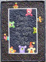 Chaos Panic Mayhem Wall Hanging Pattern  (click to enlarge)