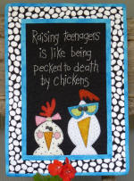 Raising Teenagers Wall Hanging Pattern  (click to enlarge)